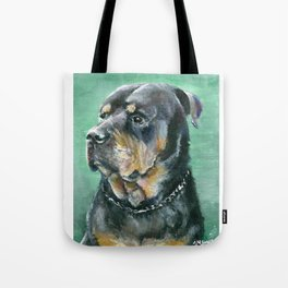 The Colorful Rottweiler Painting Tote Bag