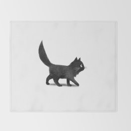 Creeping Cat Throw Blanket