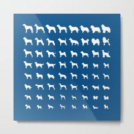 All Dogs (Royal Blue) Metal Print