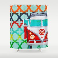 vw Shower Curtains featuring VW by Drica Lobo Art
