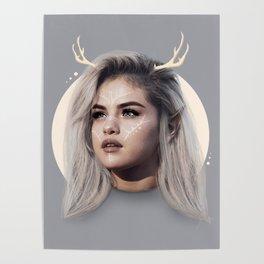 Simple deer Poster