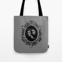 danny ivan Tote Bags featuring Danny by Micah Lee
