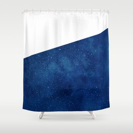 Galactic Blue Shower Curtain