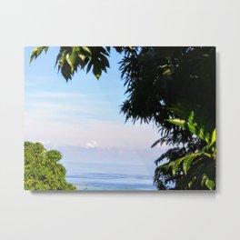 View of Caribbean Sea in Ocho Rios Jamaica Metal Print