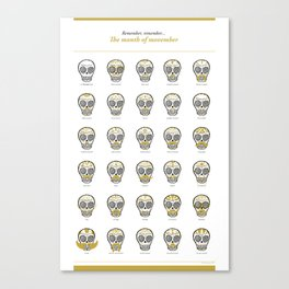 Month of Movember Canvas Print