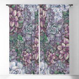 Scattered Succulents Blackout Curtain