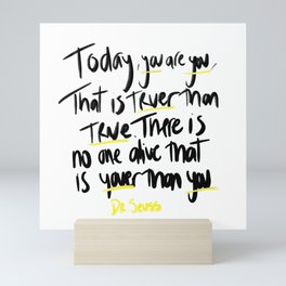 Dr. Seuss Quote Mini Art Print