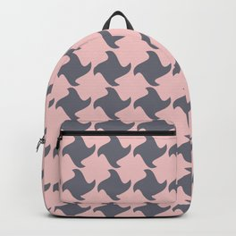 Retro Pink and Grey Pattern  Backpack