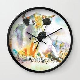 lying cow Wall Clock