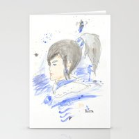 legend of korra Stationery Cards featuring Legend of Korra - Korra Watercolour by Christopher Nguyen