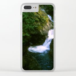 Upper Twin Falls Clear iPhone Case