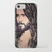 jared leto iPhone & iPod Cases featuring Vector Jared Leto by Emma Porter