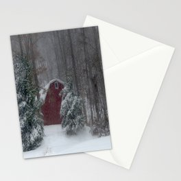 Red Barn in the Snow 2013 Stationery Cards