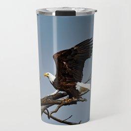 Bald Eagle Lift Off Travel Mug