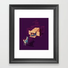 Halt! Who Goes There? Framed Art Print