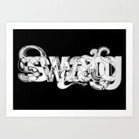 swag Art Prints featuring swag by limeflavored