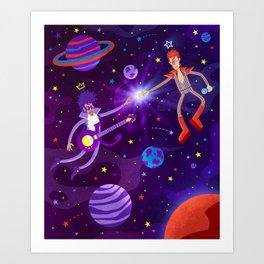 Bowie Reunited Art Print