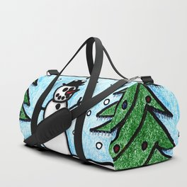 Snowman Greetings Duffle Bag
