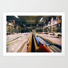 Record Hunting Art Print