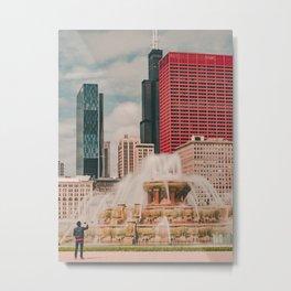Fountain View Metal Print