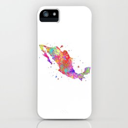 Mexico Map iPhone Case