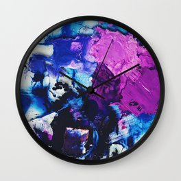Purple Piles Wall Clock