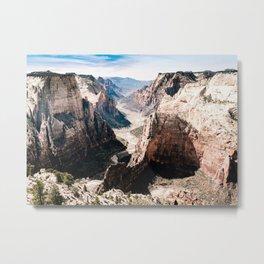 Zion Canyon National Park Metal Print