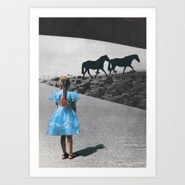 alice in dreamland Art Print