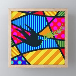 Lucky Swallow SQuare Framed Mini Art Print