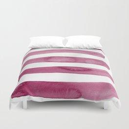 Pink Stripe Abstract Art Duvet Cover