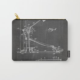 Drum Pedal Patent - Drum Set Art - Black Chalkboard Carry-All Pouch