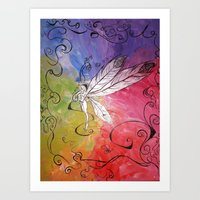 fairy of Colors Art Print