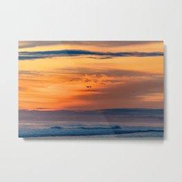 Sunrise - Omanu Beach 2 Metal Print