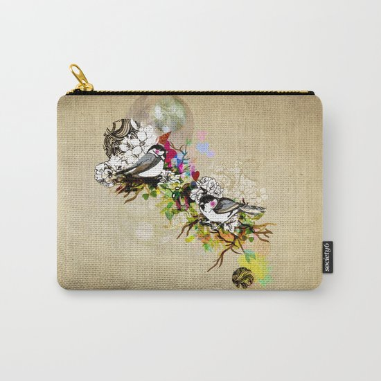 Two Birds Carry-All Pouch