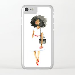 Fluffy Hair Clear iPhone Case