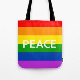 LGBT Pride Flag Peace Tote Bag
