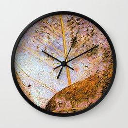 Leaf Skeletons Wall Clock