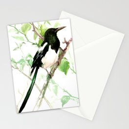 Magpie Bird, magpie Stationery Cards