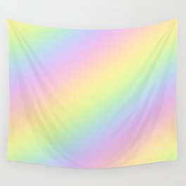 Pastel Goth Rainbow Wall Tapestry