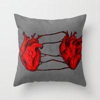 bond Throw Pillows featuring Bond by IremYorukoglu