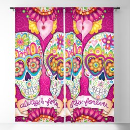 Always & Forever ~ Sugar Skulls in Love ~ Art by Thaneeya McArdle Blackout Curtain