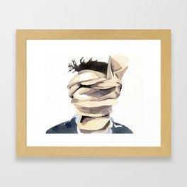 Scarf Face Framed Art Print