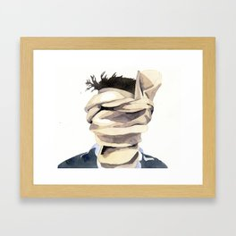 Scarf Face Framed Art Print