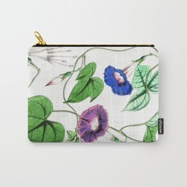 A Purging Pharbitis Vine in full blue and purple bloom - Vintage illsutration Carry-All Pouch