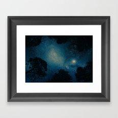 Stars & Trees Framed Art Print