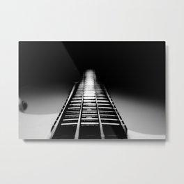 Bass Tracks Metal Print