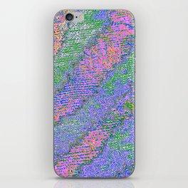 pastel zebra iPhone Skin