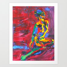 Colorful Nude Art Print
