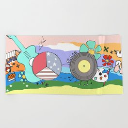 Hippie Life Beach Towel