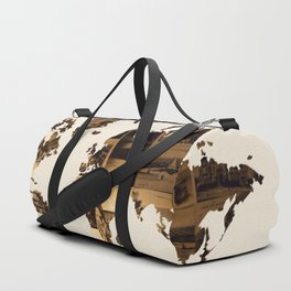 Vintage Postcards World Map Duffle Bag